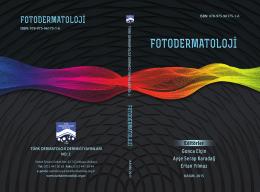 Fotodermatoloji - Türk Dermatoloji Derneği