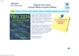 YBS.2014 Boğaziçi Üniversitesi Yönetim Bilişim Sistemleri Bölümü