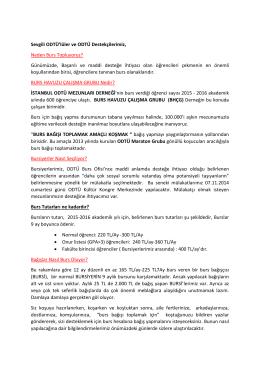 Burs Nedir? - İstanbul ODTÜ Mezunları Derneği