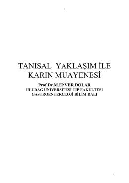 Karın Muayenesi - Uludağ Üniversitesi Tıp Fakültesi