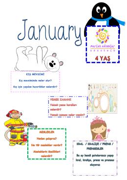 Ocak Ayı 4 Yaş Eğitim Bülteni