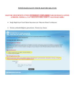 isteğe bağlı kayıt tescil başvuru klavuzu