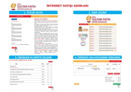 3. ürünler ve sepete ekleme - Sultan Fatih Eğitim Kurumları