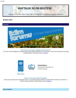 28.10.2015 - İklimBU - Boğaziçi Üniversitesi