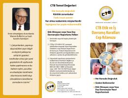 CTB Etik ve İş Davranış Kuralları Cep Kılavuzu