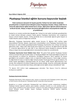 Piyalepaşa İstanbul eğitim bursuna başvurular başladı