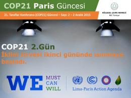 COP21 Paris Güncesi COP21 2.Gün
