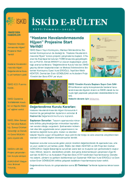 ISKID e-bülten 2015
