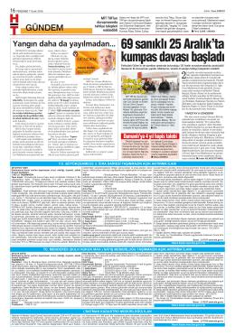 69 sanıklı 25 Aralık`ta kumpas davası başladı