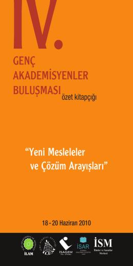 genç akademisyenler buluşması - Türkiye Lisansüstü Çalışmalar
