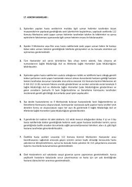 17. askom kararları - şanlıurfa il ambulans servisi başhekimliği 112