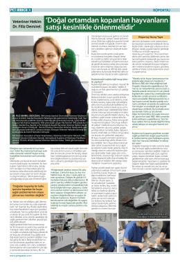 Dr.Filiz Demirel`in Pet İnfo Dergisi ile söyleşisi