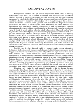 KAMUOYUNA DUYURU - Çukurova Üniversitesi