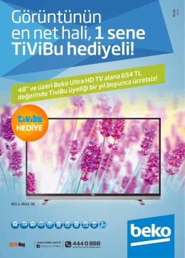 Görüntünün en net hali, 1 sene TiViBu hediyeli!