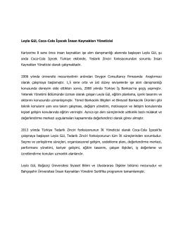 Leyla Gül, Coca-Cola İçecek İnsan Kaynakları Yöneticisi Kariyerine