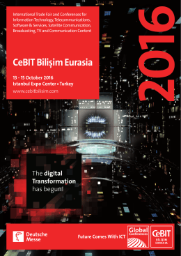 CeBIT Bilişim Eurasia Acquisition Brochure More