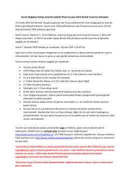Acran Boğaziçi Kimya Anonim Şirketi Plast Eurasia 2015 Stand