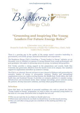 """Grooming and Inspiring The Young Leaders For Future Energy Roles"""