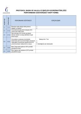 protokol basın ve halkla ilişkiler koordinatörlüğü performans