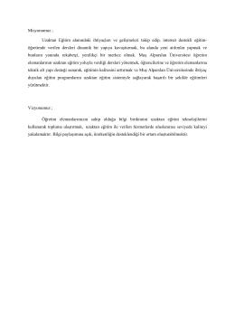 Misyon-Vizyon - Muş Alparslan Üniversitesi