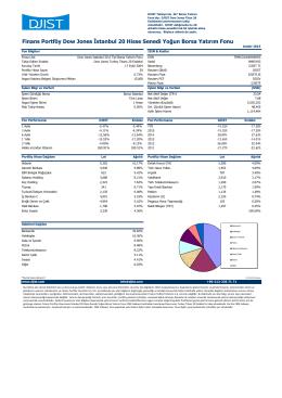 Aralık 2015 - Dow Jones Istanbul 20