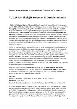 TUZLU SU - Ekolojik Kurgular & Denizler Altında