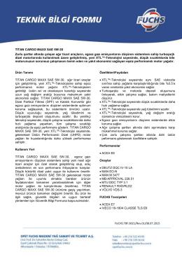 TITAN CARGO MAXX SAE 5W-30 Zorlu şartlar altında