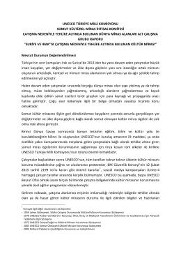unesco türkiye milli komisyonu somut kültürel miras ihtisas komitesi
