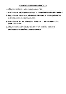 Tıbbi atık sözleşmesi - EMS Makina İnşaat ve Dış Tic. Ltd. Şti.