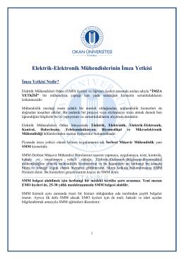 Okan Üniversitesi Elektrik-Elektronik Mühendisliği İmza Yetkisi