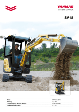mını ekskavatör - Yanmar Construction Equipment Europe