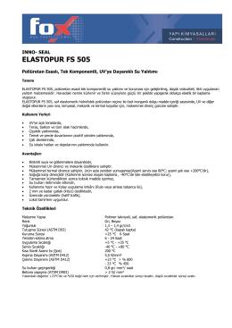 ELASTOPUR FS 505 - Fox Bau Professional
