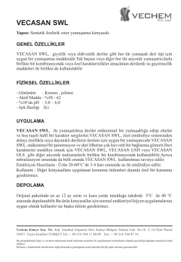 VECASAN SWL - Vechem Kimya