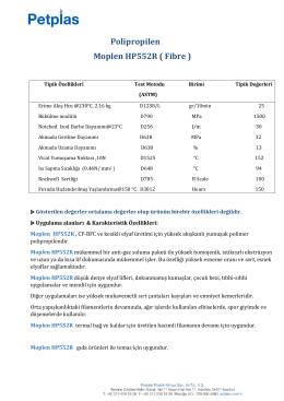 Polipropilen Moplen HP552R ( Fibre )