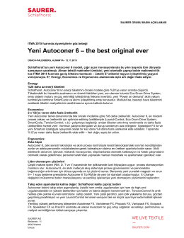 Yeni Autoconer 6 – the best original ever