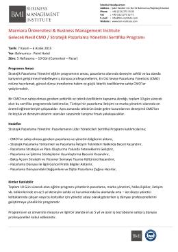Marmara Üniversitesi & Business Management Institute Gelecek