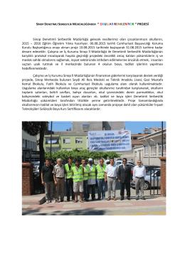 Sinop Denetimli Serbestlik Müdürlüğü gelecek nesillerimiz olan