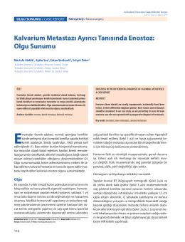 Olgu Sunumu - Acıbadem Üniversitesi Sağlık Bilimleri Dergisi