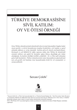 oy ve ötesi örneği - Turkish Policy Quarterly