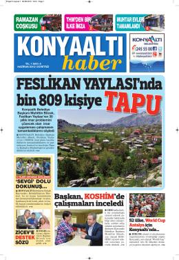 haziran 2015 yıl:1 - Konyaaltı Belediyesi