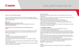 GENEL SART VE KOSULLAR (TR) R)
