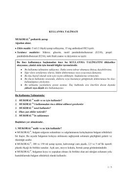 Mukoral Pediatrik Surup KT