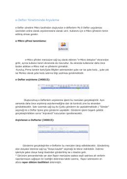 15 Versiyonu / 09.11.2015 Tarihli Arşivin güncellemesi 06.11.2015