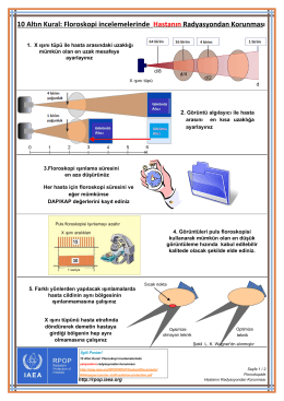Floroskopi incelemelerinde Hastanın Radyasyondan Korunması