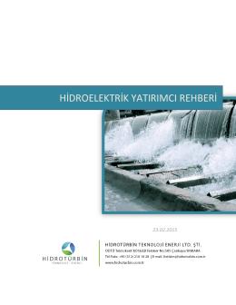 Hidroelektrik Yatırımcı Rehberi