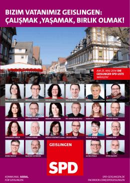 BIZIM VATANIMIZ GEISLINGEN - SPD Ortsverein Geislingen