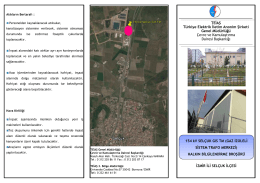 """""""154 kV Selçuk GIS Trafo Merkezi (TM)"""" projesi ile ilgili broşür"""