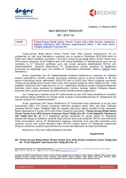 2015-54 Türkiye-Avrupa Birliği Katılım Öncesi Yardım Aracı IPA