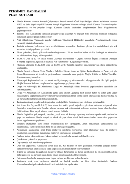 Kadıkalesi Pek simet Koruma Am açlı İmar Pl an Hükümleri. pdf
