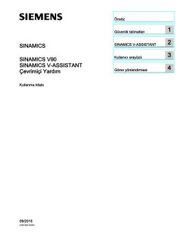 SINAMICS V-ASSISTANT Çevrimiçi Yardım
